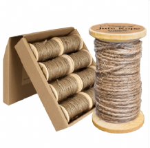 Natural Jute Rope Wooden Spool 2mm x 15m (Eleganza) 1pc